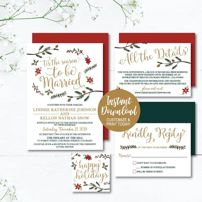 Wedding Invites and RSVP Online Wedding Invite Templates LDS Etsy