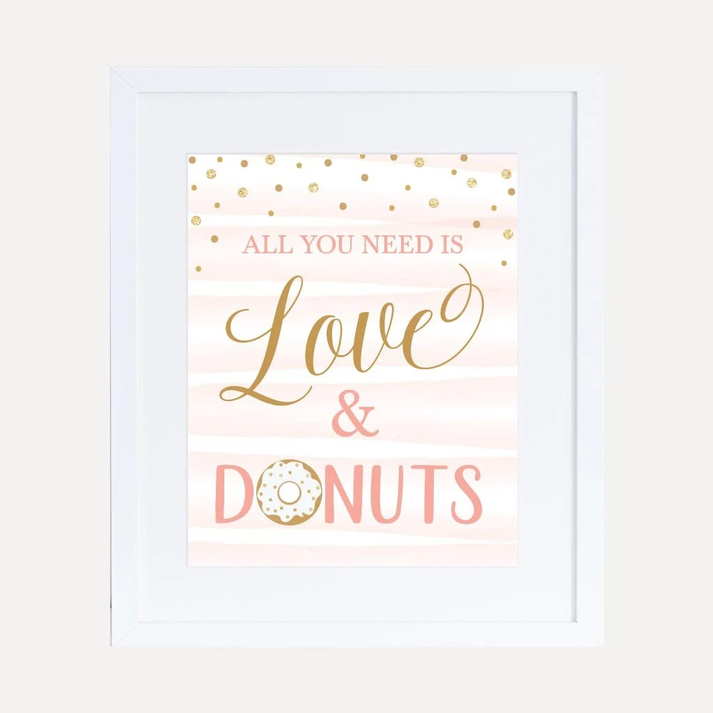 Pink Donut Baby Shower Love  Donuts Sign Template Etsy
