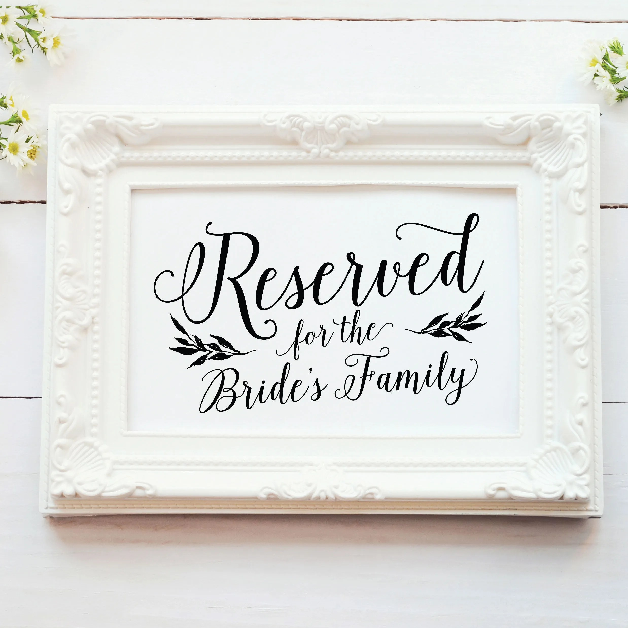Printable Wedding Reserved Signs Rustic Ceremony Reserved Etsy