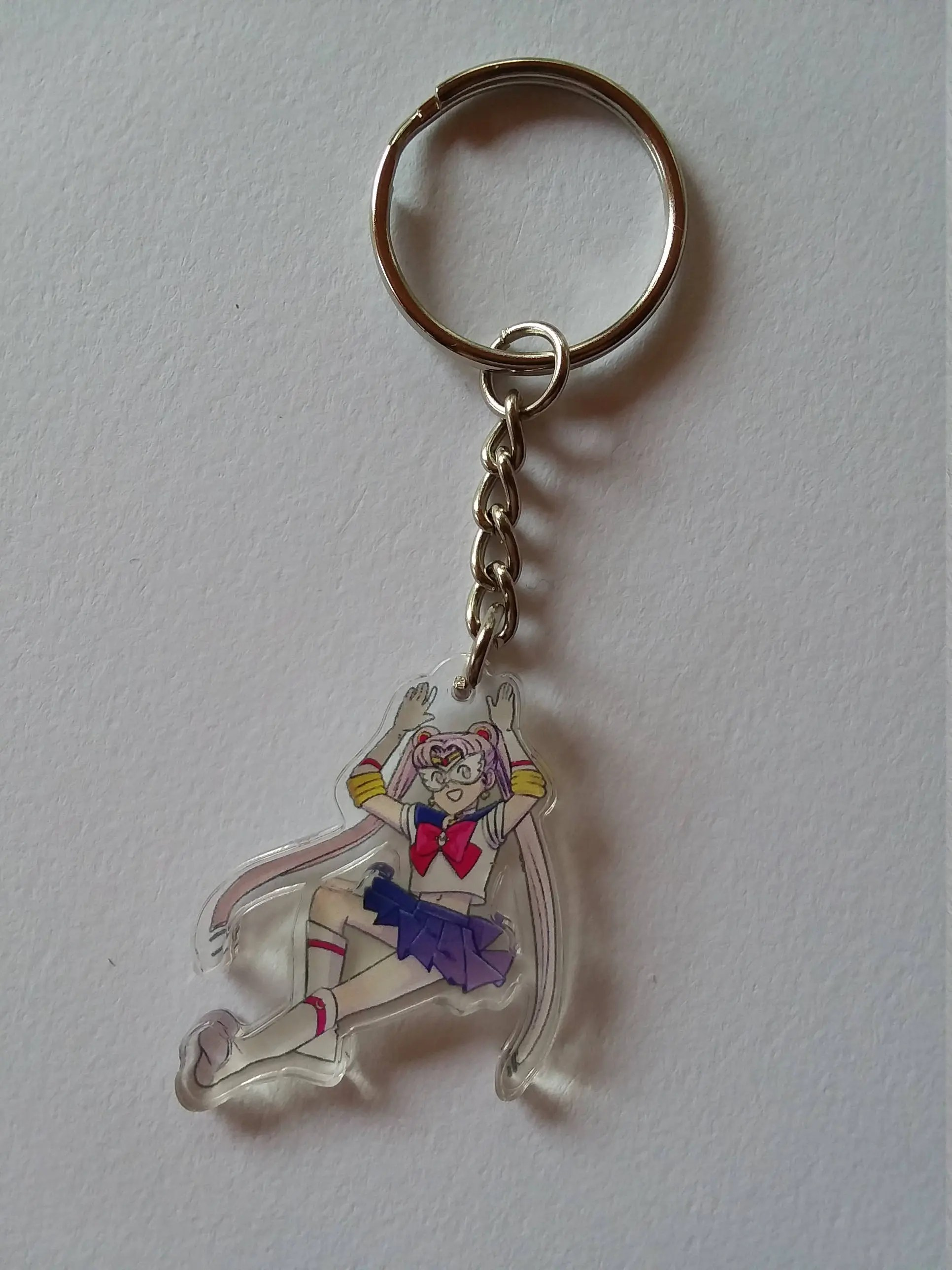 Porte Clef Original Design Sailor Moon Charme Acrylique Porte Clef Design Original De Costume Manga Mignon Magical Girl