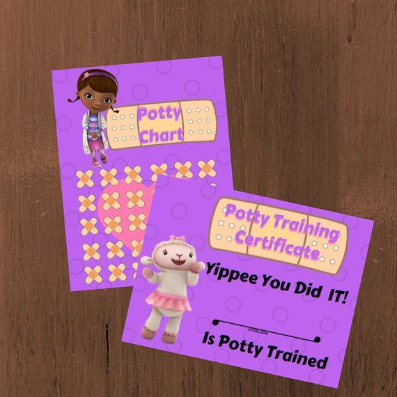 Printable Potty Training Chart and Certificate Doc McStuffins Etsy