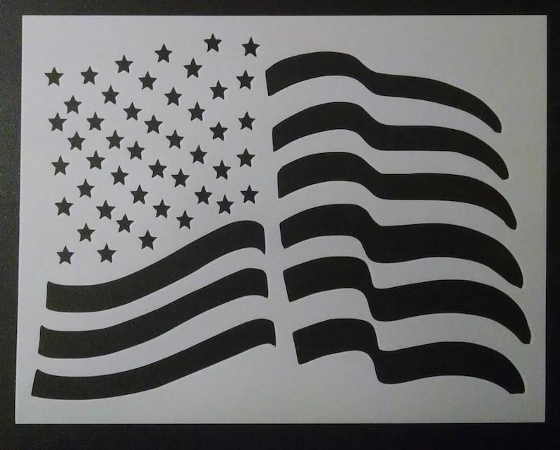 Usa us United States American Flag Waving Wave Wavy Custom Etsy