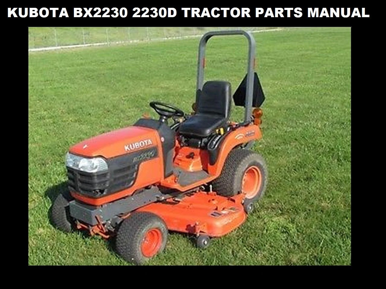 KUBOTA BX 2230 BX 2230 D Parts Manual 260pg of BX2230D Etsy