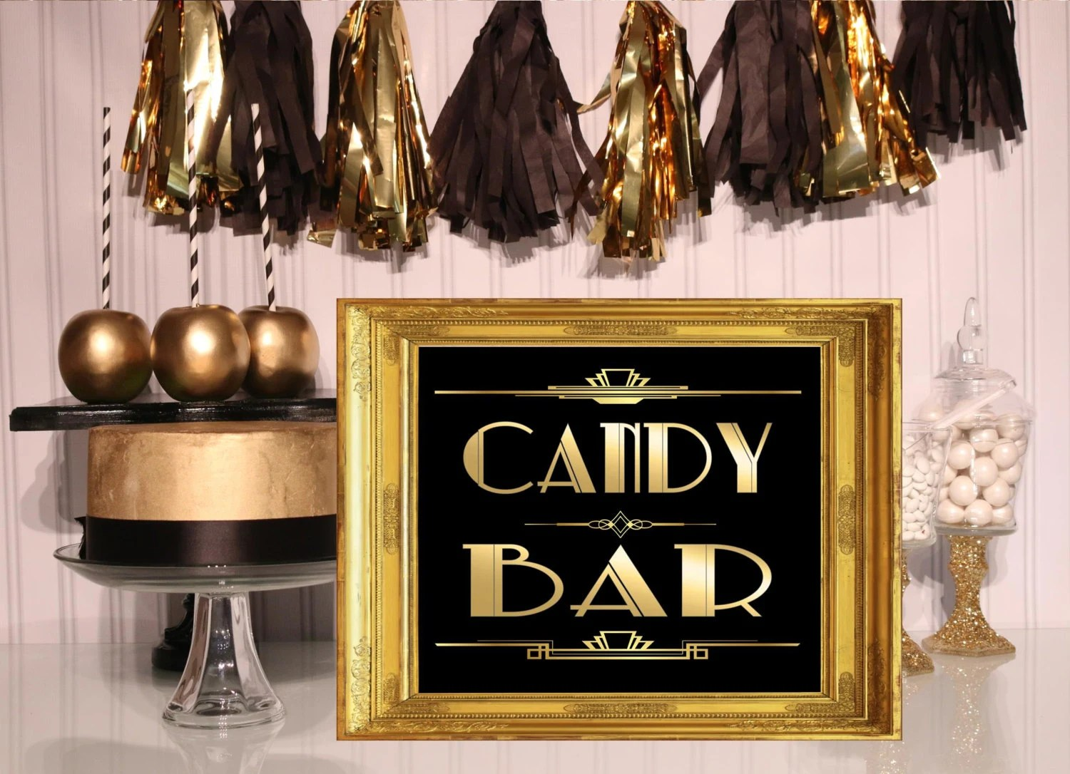 PRINTABLE Candy Bar sign,Gatsby party decoration, Roaring twenties