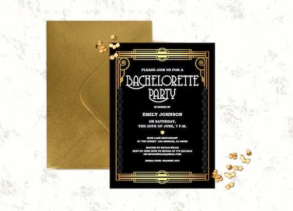 Bachelorette invitation editable PDF template DIY Great Etsy