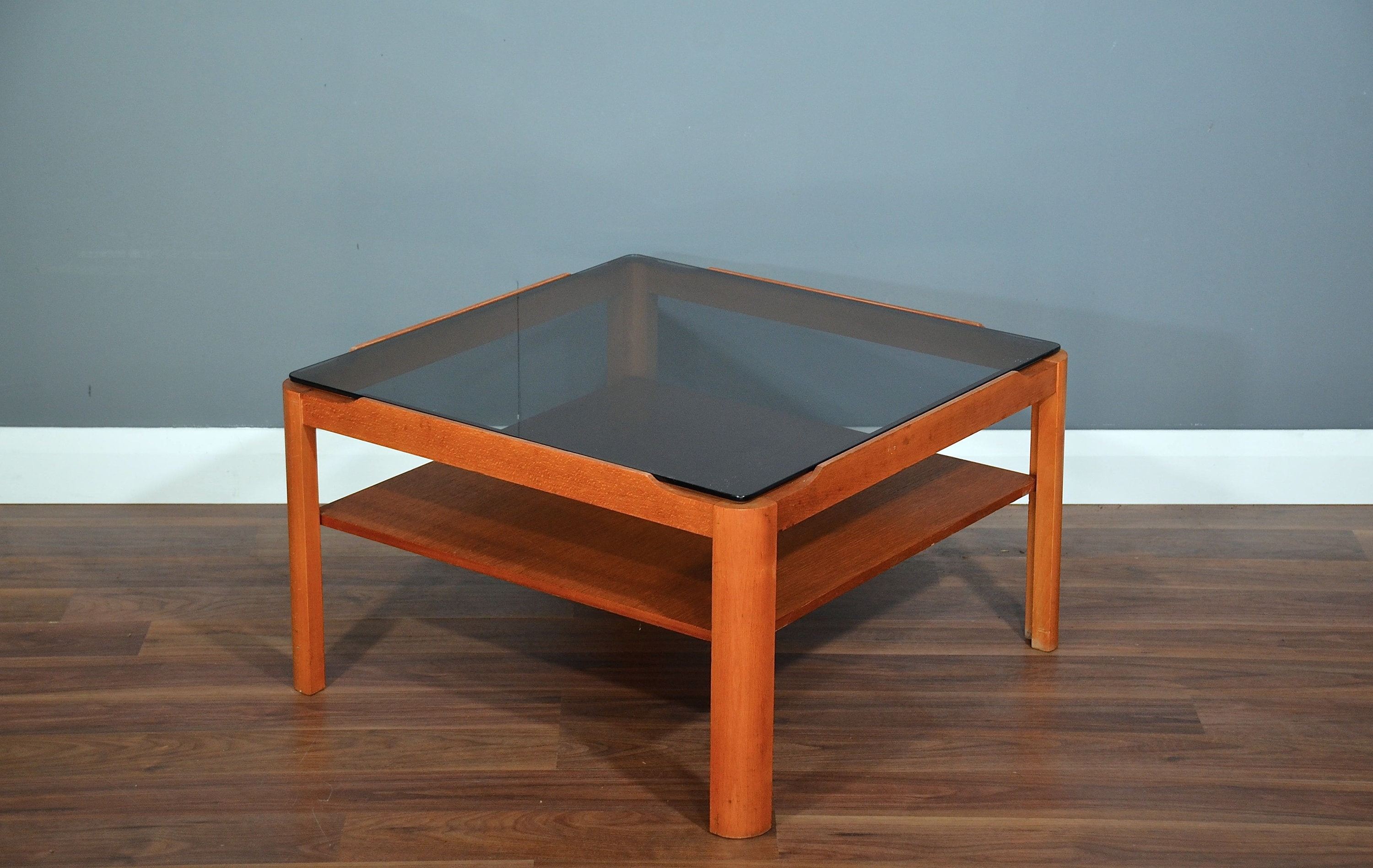 Teak Couchtisch Danish Vintage Midcentury Two Tier Teak And Smoked Glass Coffee Table Delivery Danish Retro Style