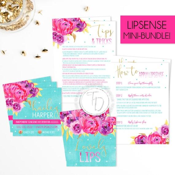 LipSense Business Card Printable, Lipsense Branding Kit, LipSense