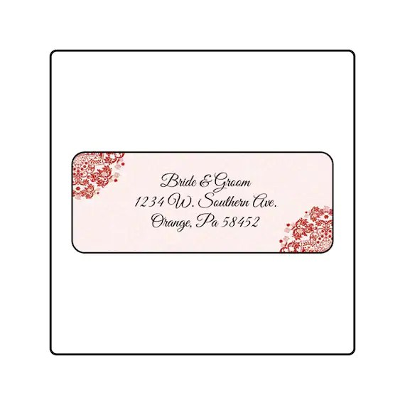 Wedding Return Address Labels Custom Return Labels Address Etsy