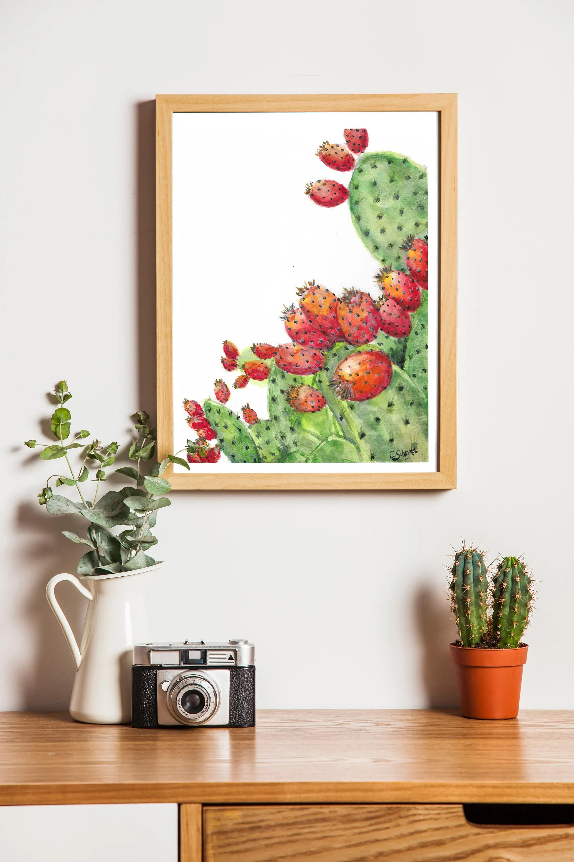 Affiche Deco Cuisine Affiche Déco Cactus Botanique 20x30 Cm Decoration Cuisine Kitchen Design Home Art Poster Print Minimalist Vegan Art Vegetarian