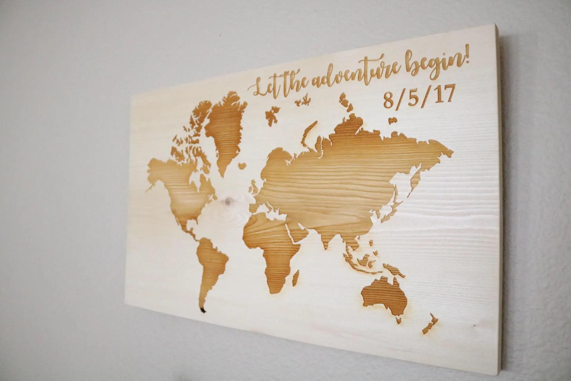 Holz Landkarte Wand Weltkarte Wandkunst Reise Karte Karte Kunst