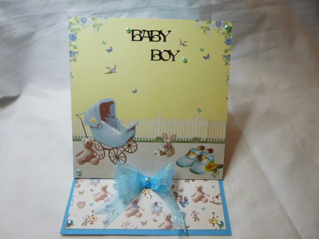Baby Boy Card, Congratulations, New Born, New Arrival, Handmade