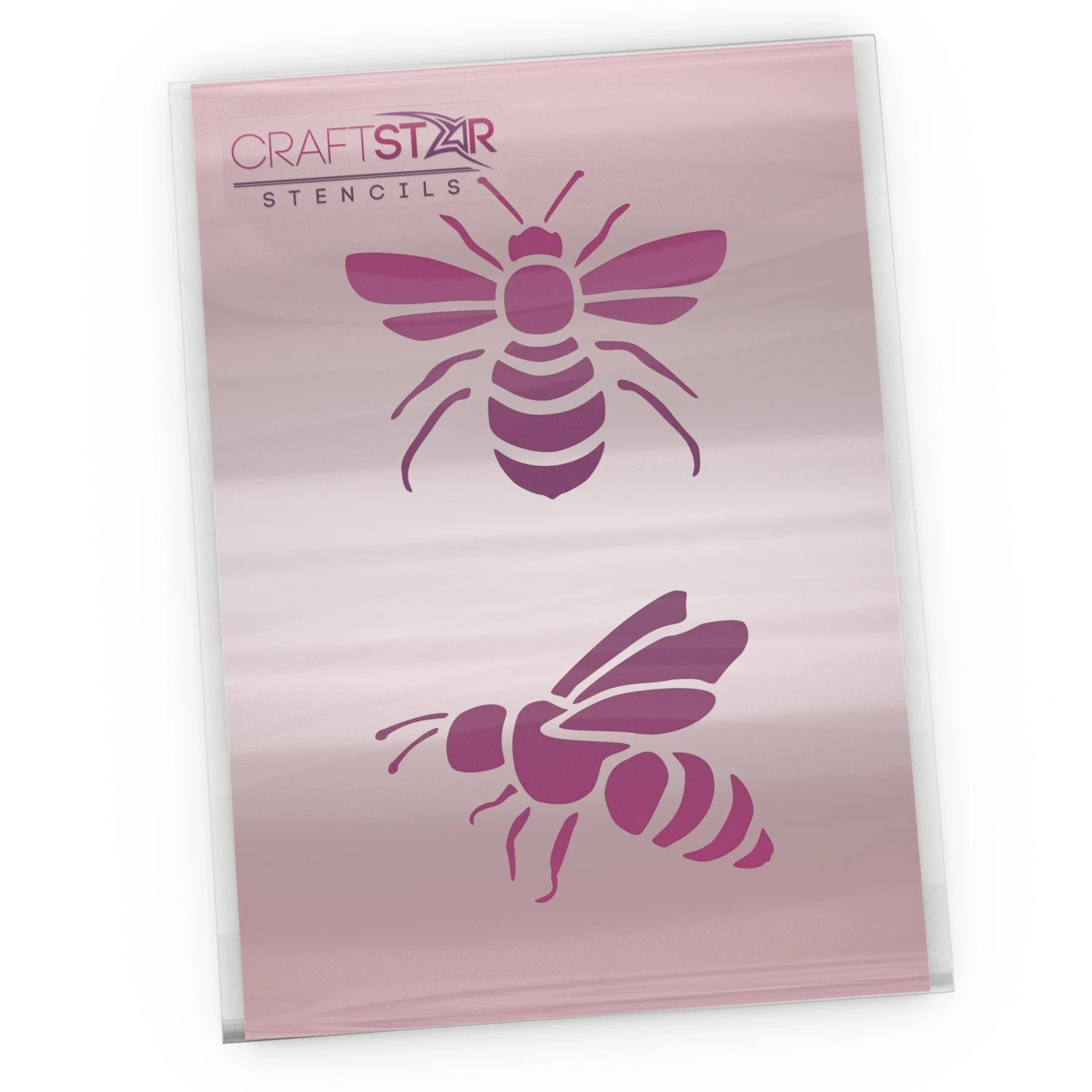 Bees Stencil 2 x Small Bee Templates for Crafting  Home Etsy