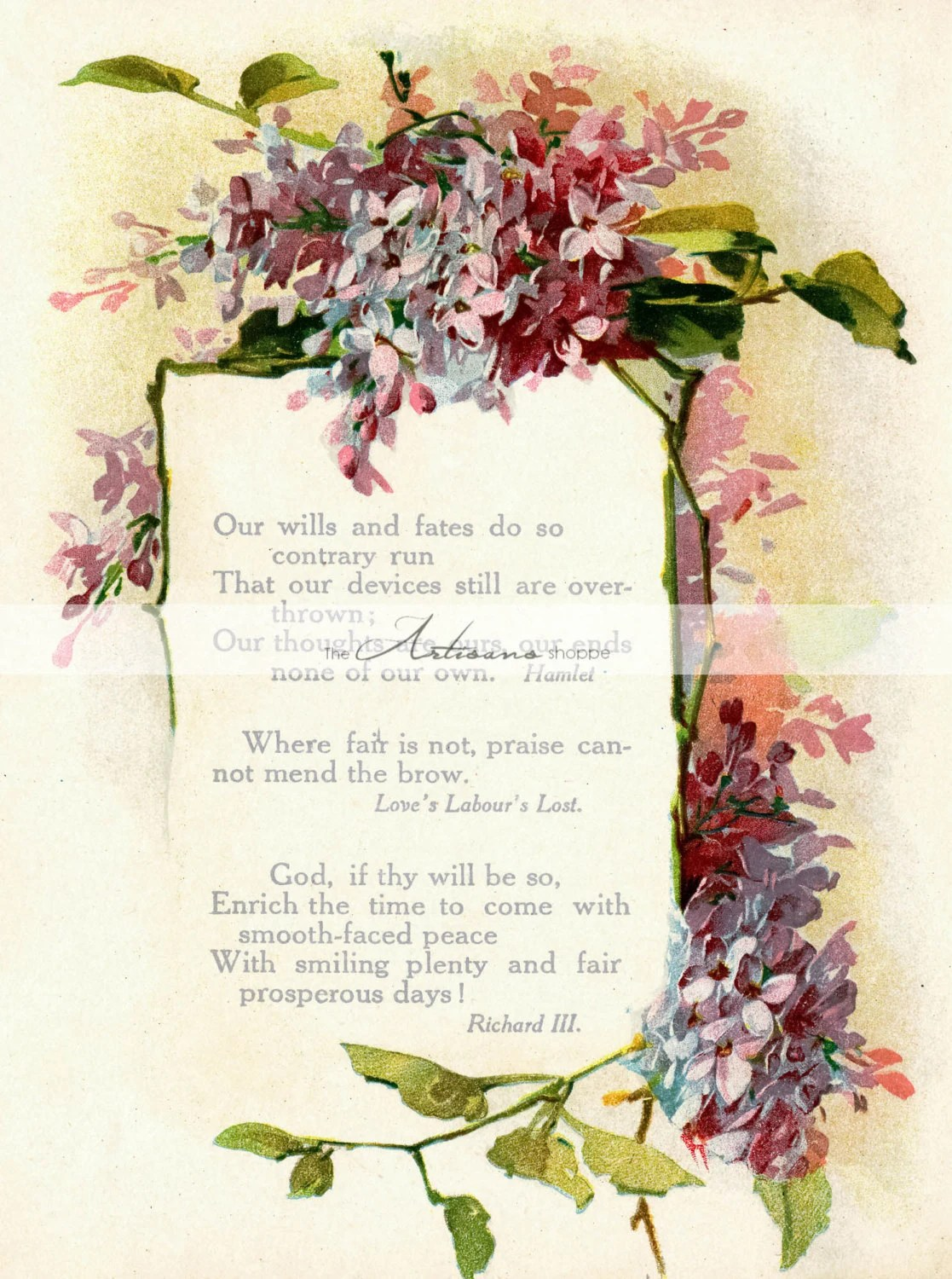 Instant Download Printable Art Victorian Forget Me Not Etsy
