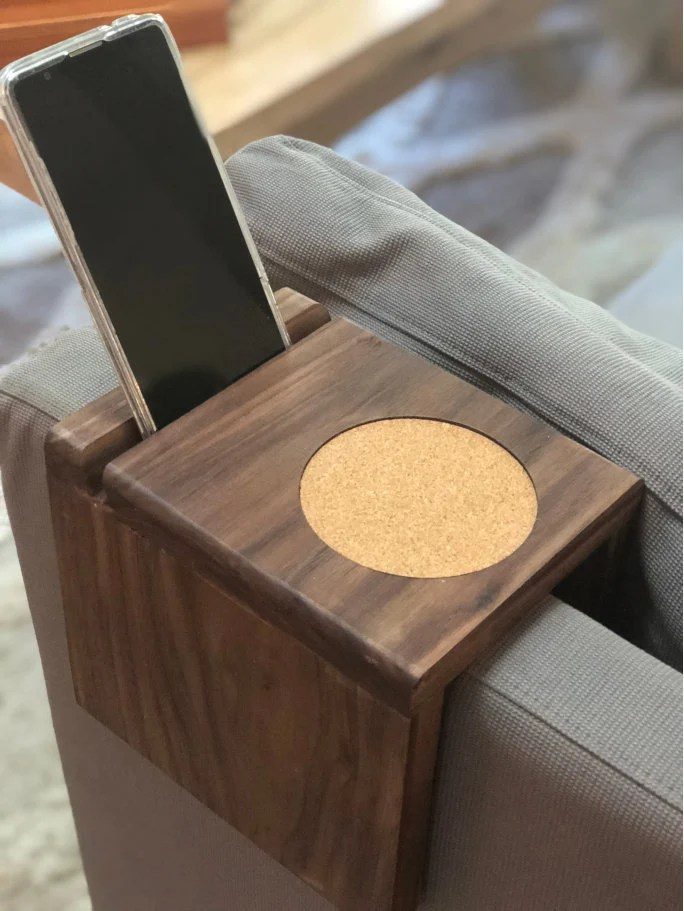 Sofa Arm Tray South Africa Custom Wood Coaster Wood Couch Sofa Couch Sofa Armrest Tray Chair Tray End Table Tray Cell Phone Holder Iphone Stand