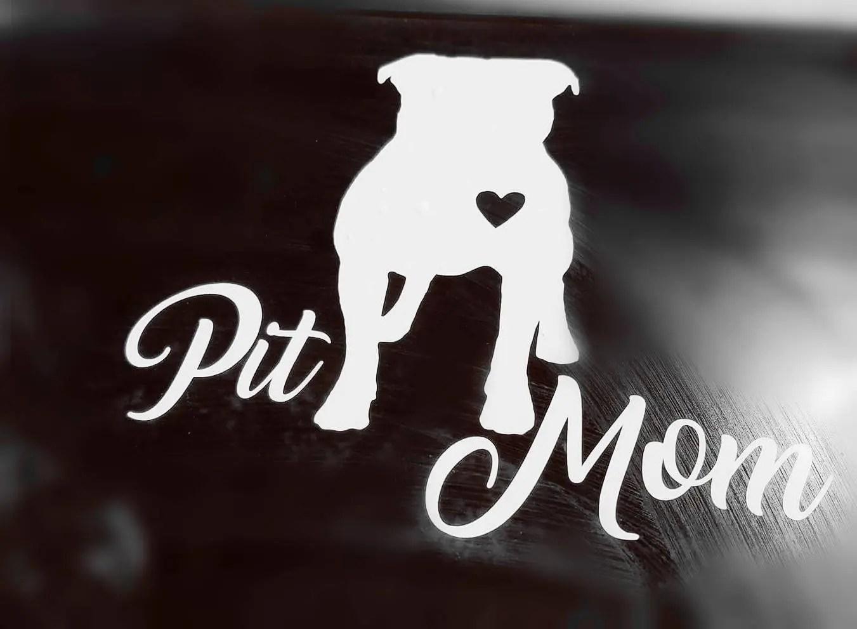 Pitbull mom car decal pit mom car decal don\u0027t bully my Etsy