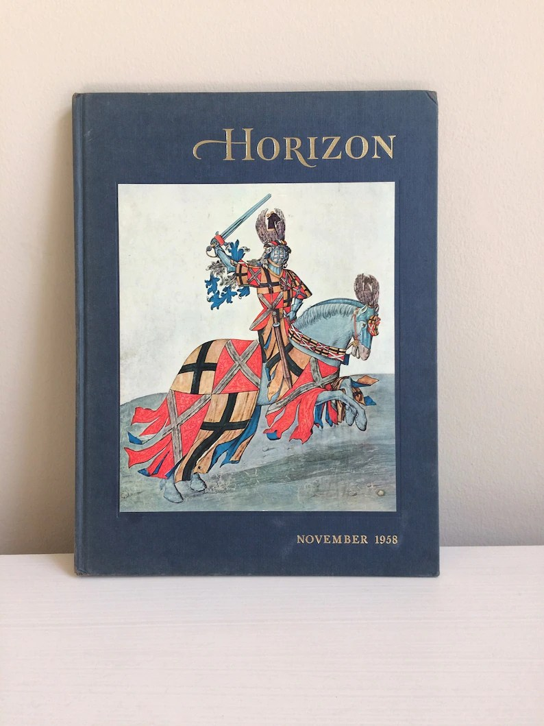 Vol Charter Vintage Hardcover Horizon Magazine Of The Arts November 1958 Vol 1 Issue 2 Charter Year Second Book In The Series