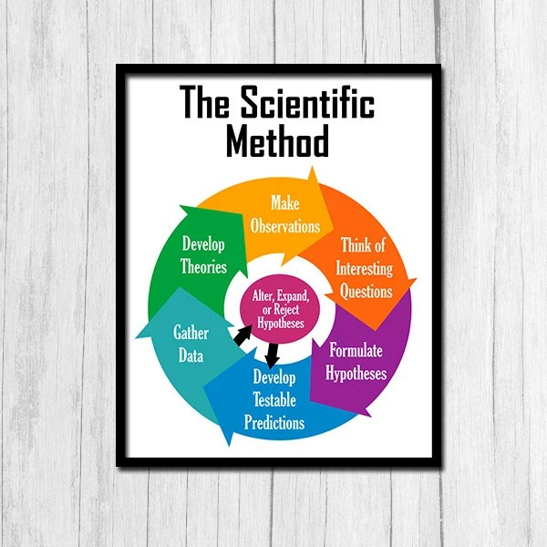 The Scientific Method Poster Printable Art Classroom Science Etsy