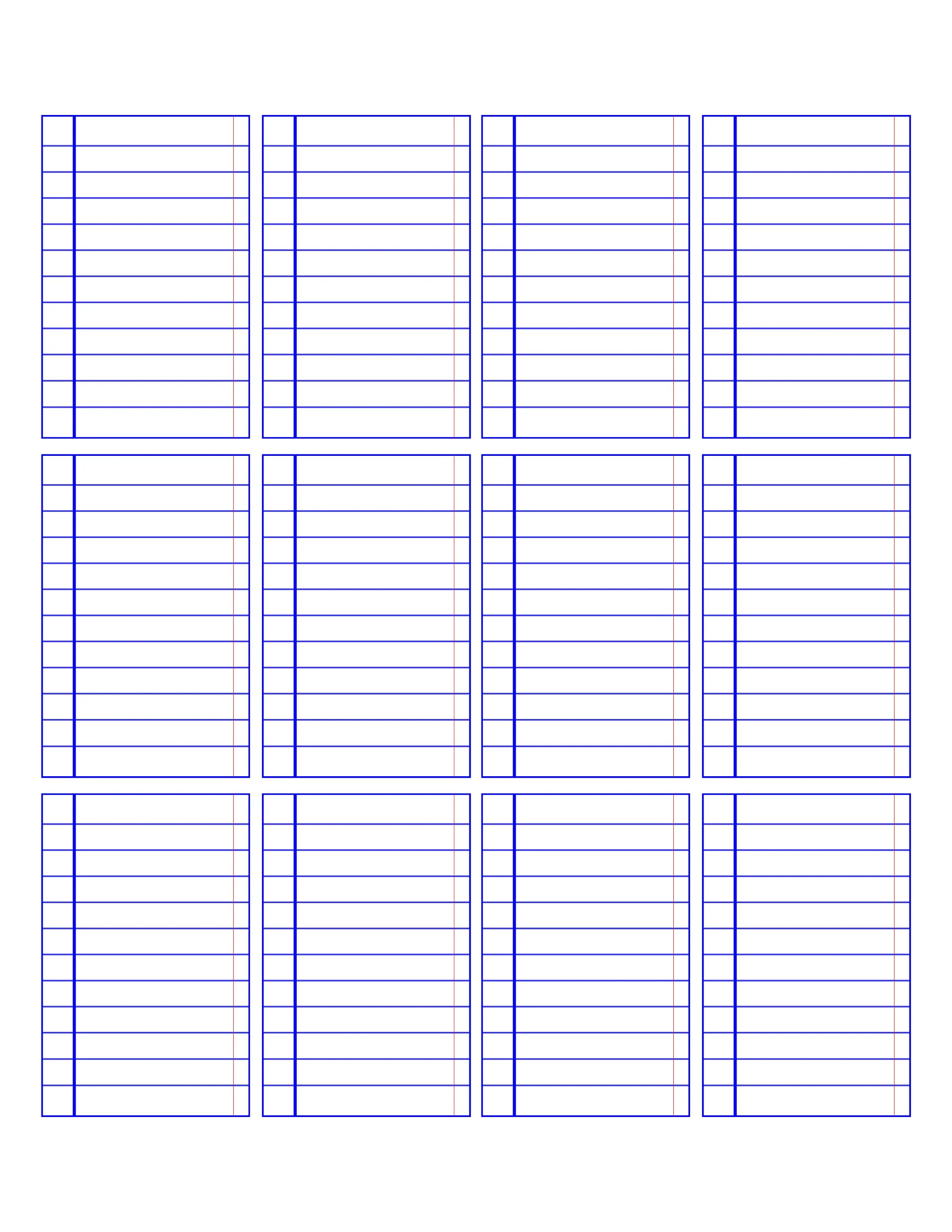 Big HP Printable Notebook Paper Lines Checklists Boxes Etsy