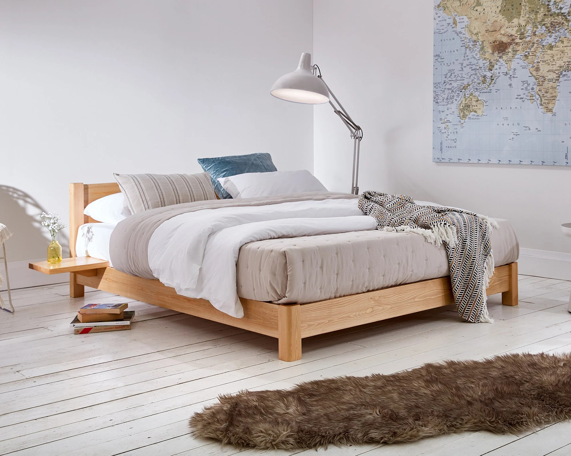 Wooden Beds Low Oriental Space Saver Wooden Bed Frame By Get Laid Beds