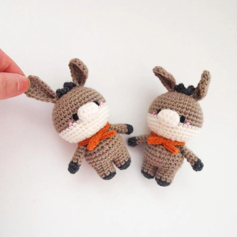 Crochet Doll Amigurumi Pattern Donkey GGoMa series Etsy