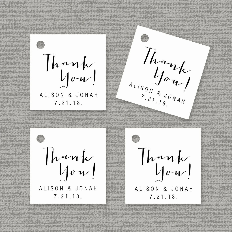 Thank You Tag Template Printable Wedding Favor Tags Etsy