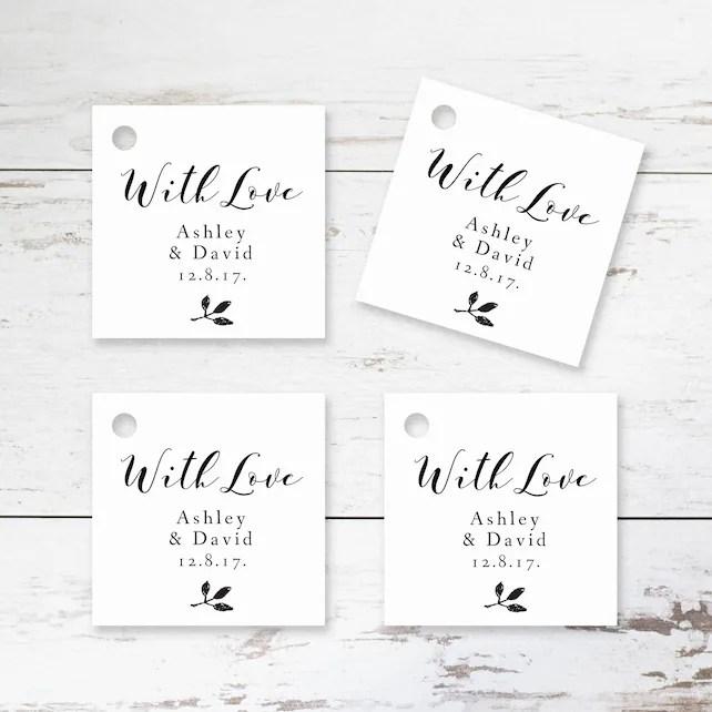 Printable Wedding Favor Tag Template - Editable Thank You Gift Tag