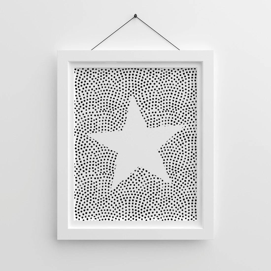 Nursery Stars Nursery Illustration Kids Prints Star Print Etsy