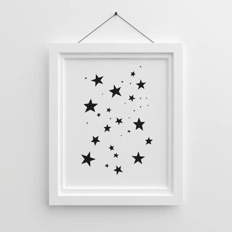 Childrens Wall Art Nursery Printable Art Star Prints Etsy