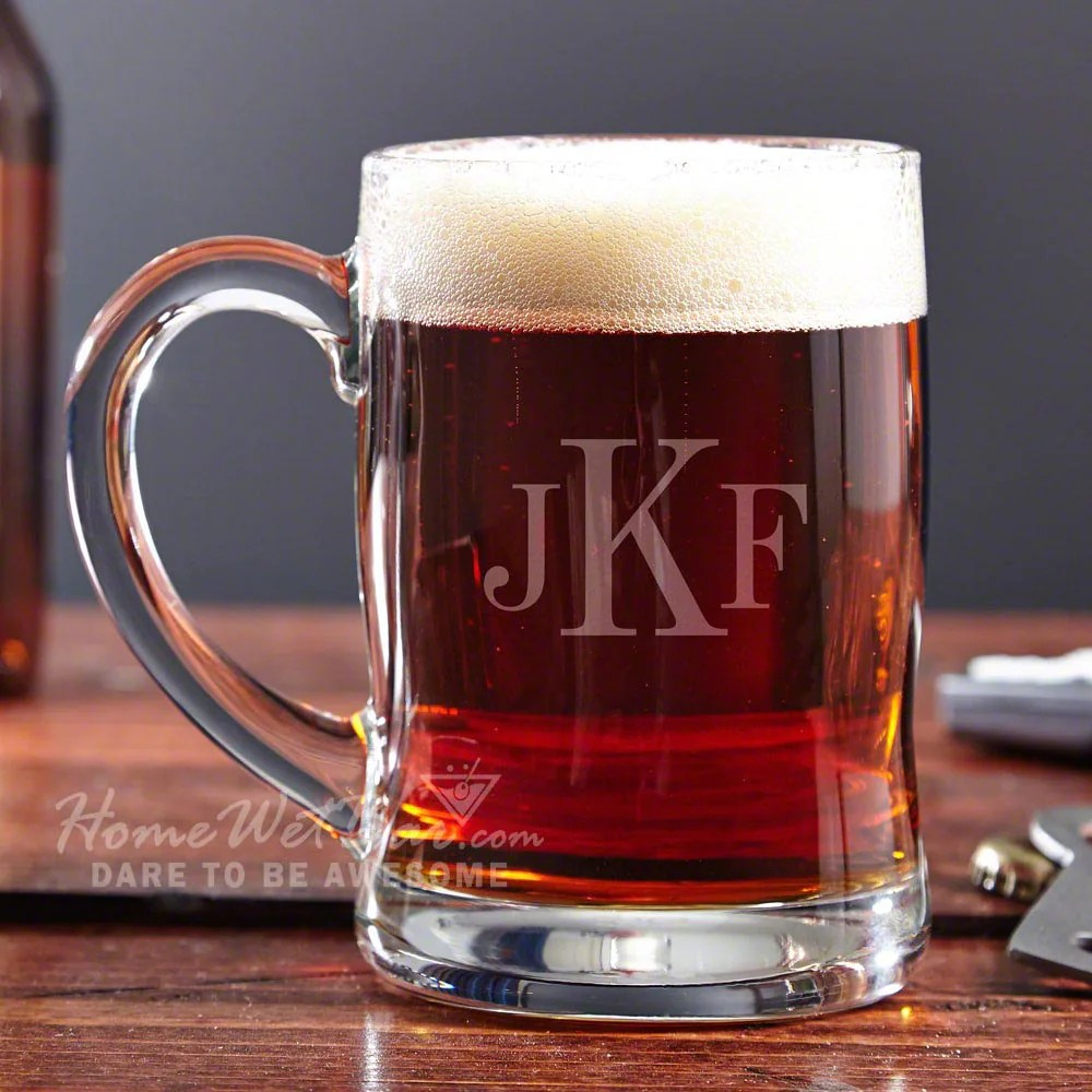 Barzubehör Hamburg Hamburg Personalized Beer Mug 12oz Monogrammed Glass Stein With Initials Cool Gift For Dads Beer Lovers Brother Birthday Retirement