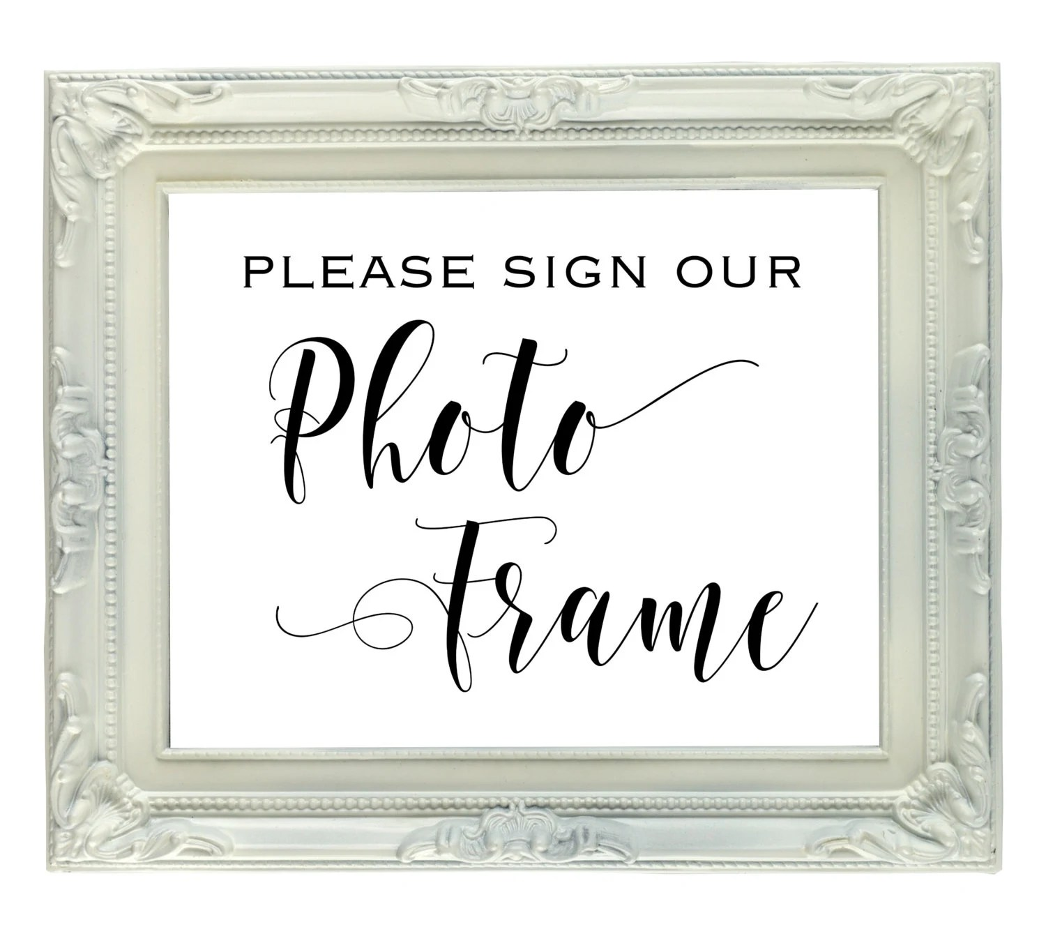 Photo Frame Guest Book sign 8x10 Instant Download Printable Etsy