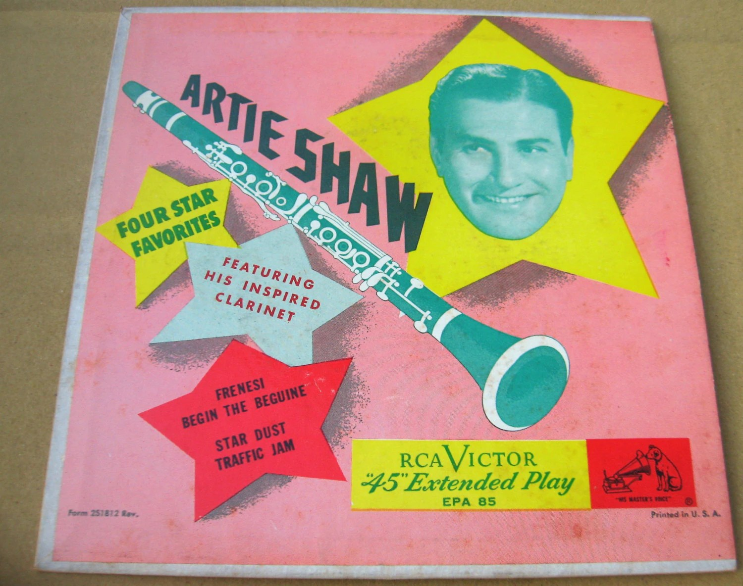 Artie Shaw Genre Vinyl Artie Shaw Rca Victor Ep 45 E2pw 0139 Very Good Condition Not Scratched