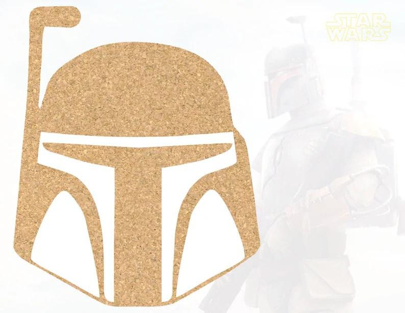 Boba Fett Helmet STAR WARS cork board pin board notice memo Etsy