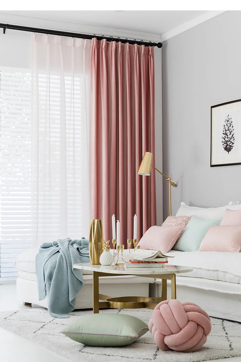 Pink Living Room Curtains Pair Of Velvet Rose Pink Curtains Velvety Dusty Pink Drapery Custom Curtains Extra Long Extra Wide Nursery Room Curtains