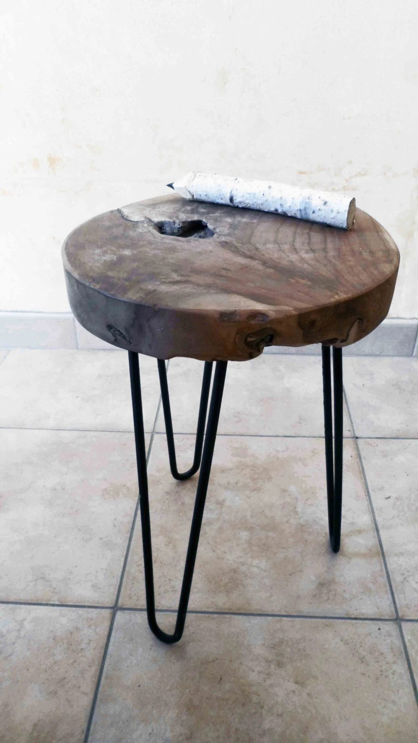 Table Ronde Basse Bois Table Basse Bois Coffee Table Table Teck Teck Table Table Ronde Round Table