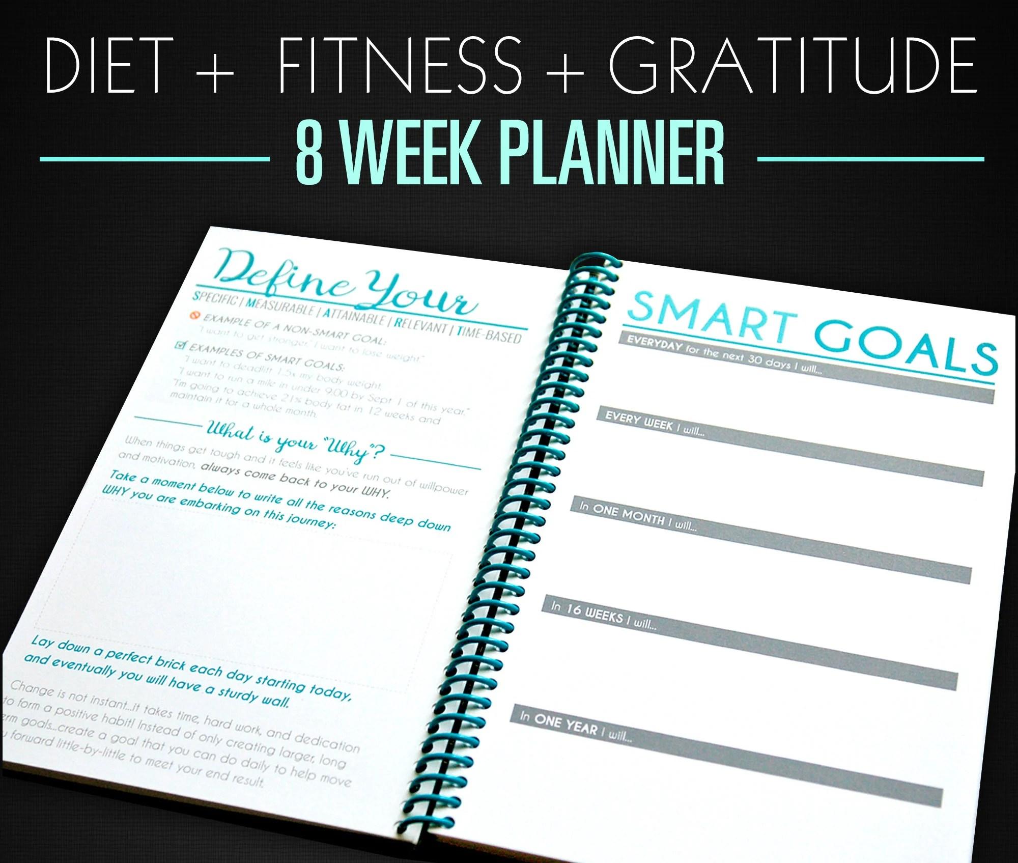 8-Week Nutrition Food Journal  Workout Planner TEAL Etsy