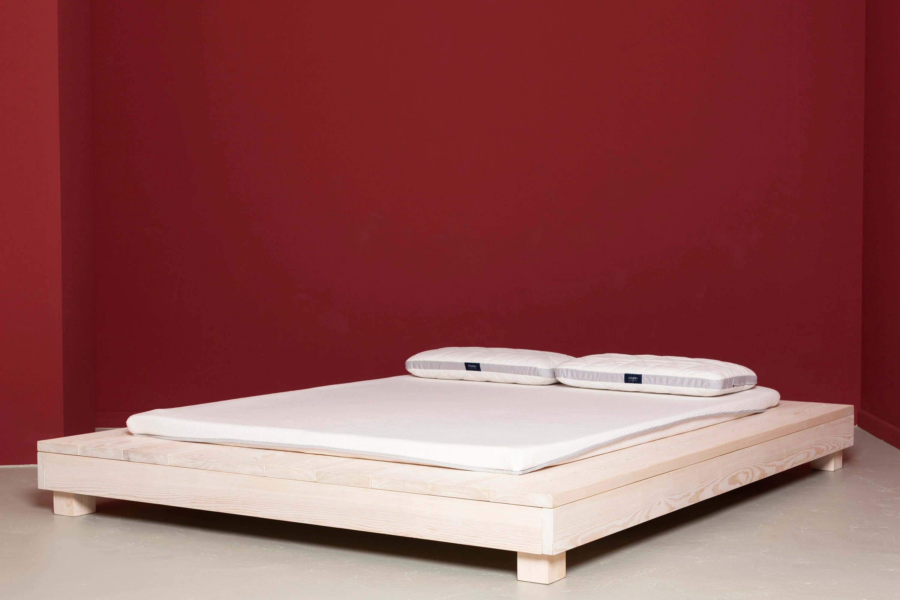 Bett Calla 120x200 Futon Bed Made Of Recycled Lumber In White Lourmarin