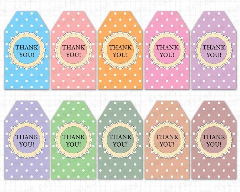 Printable Thank You Tags Thank You Printable Tags Etsy