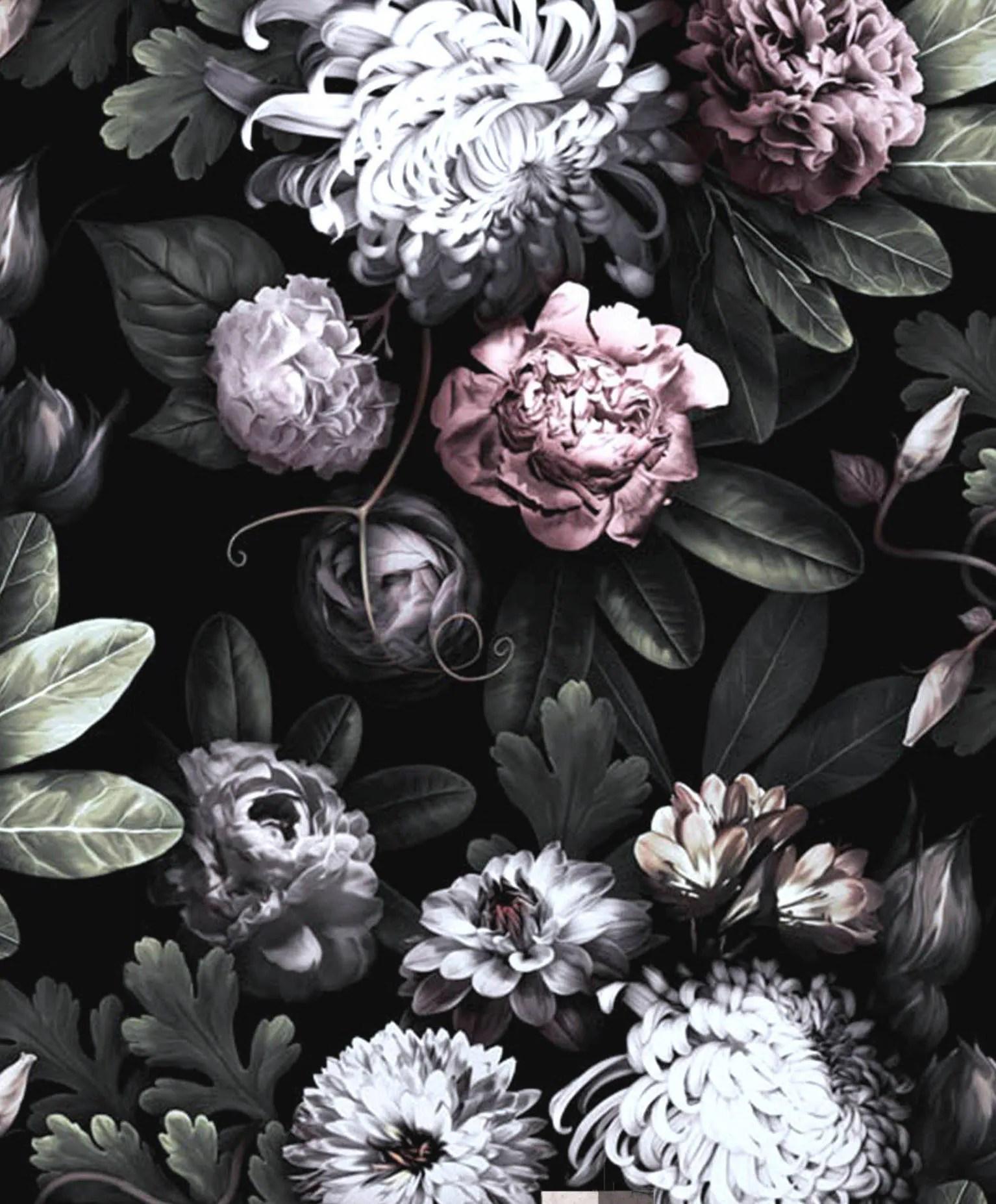 Iphone 5 Wallpaper Floral Dark Floral Wallpaper Floral Wallpaper Dark Flowers