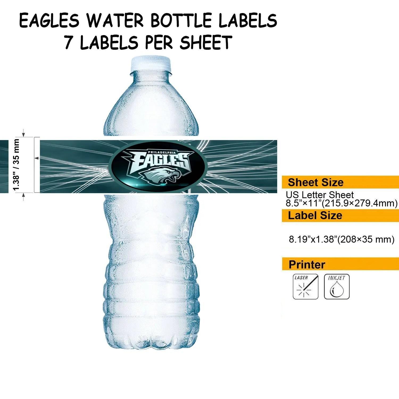 Philadelphia Eagles Water Bottle Labels Superbowl Football Etsy
