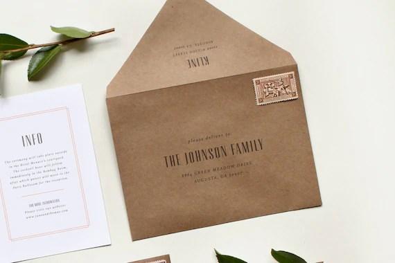 Custom Wedding Envelope Printing Wedding Envelope Printing Etsy