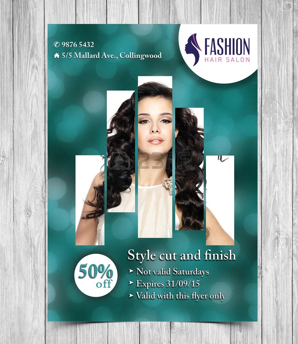 Printable Flyer Template Hair Salon Flyer Beauty Salon Flyer Etsy