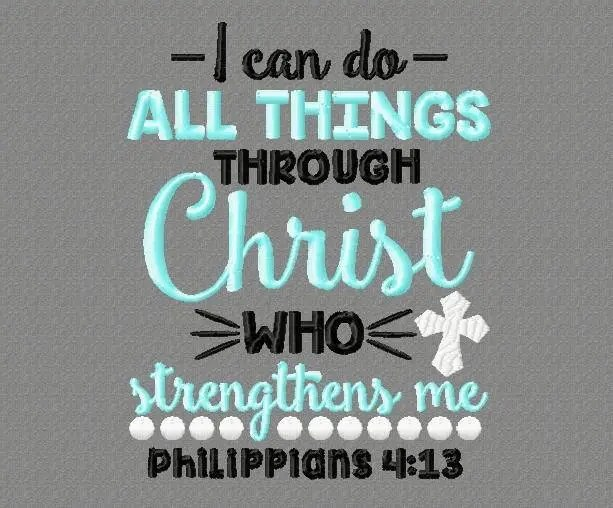 Buy 3 get 1 free I can do all things through Christ would Etsy