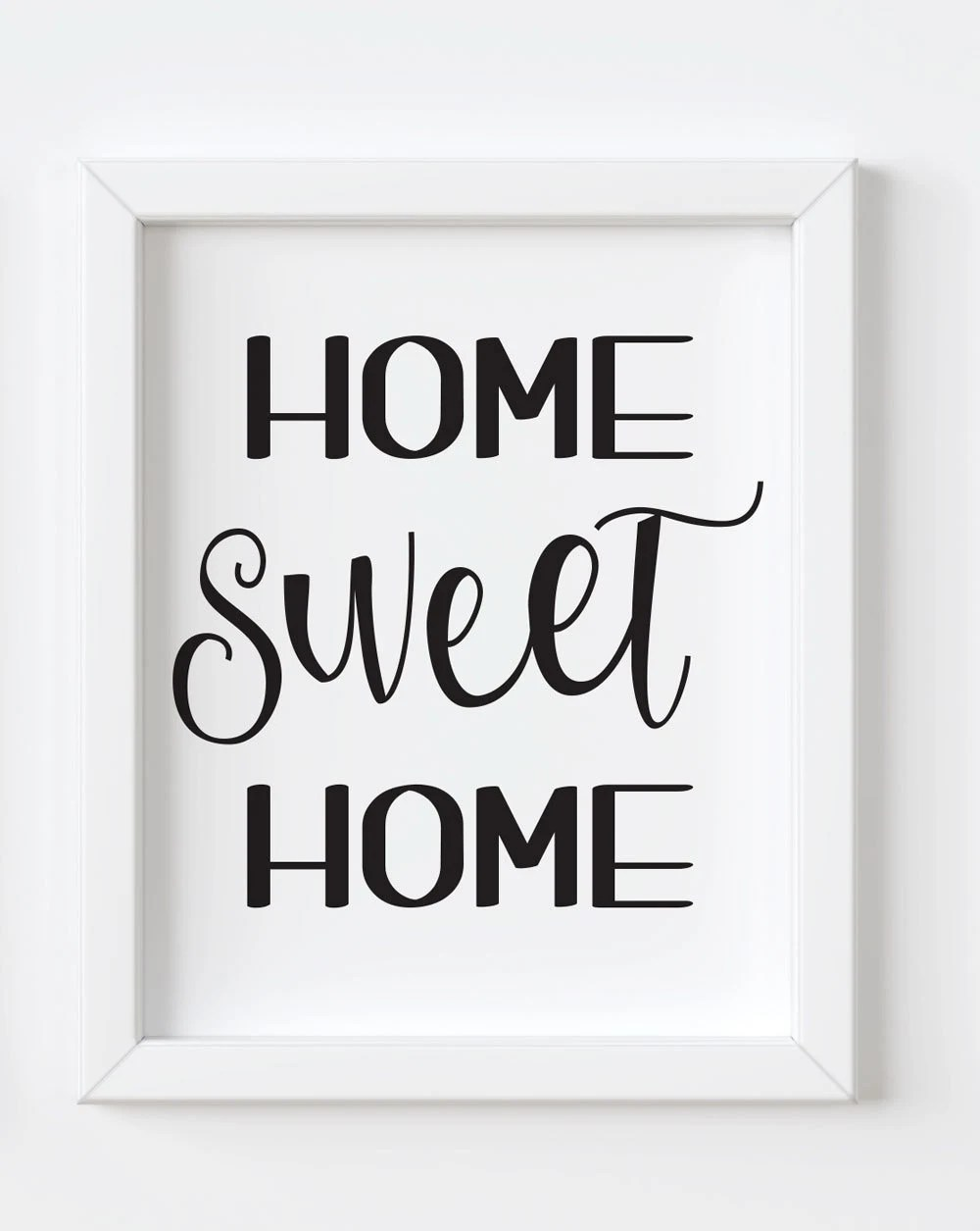 Home Sweet Home printable wall art INSTANT DOWNLOAD 3 Sizes Etsy