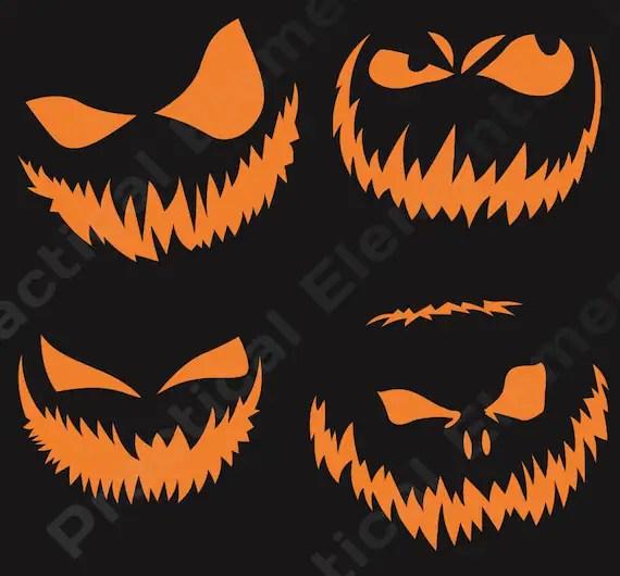 Halloween Pumpkin Face Templates- Scary Pumpkin Face Carving