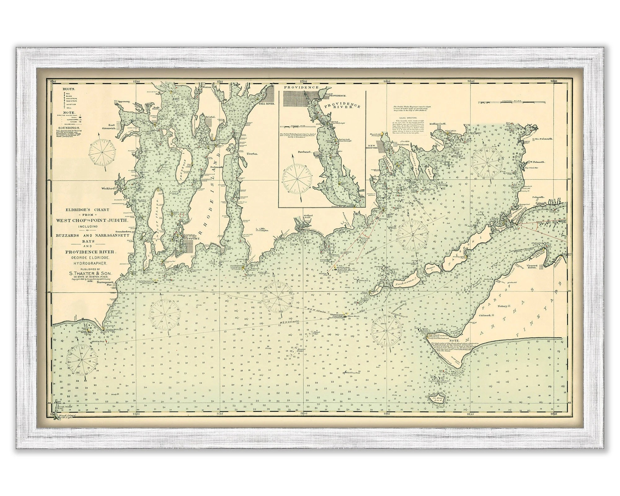 0495-Martha\u0027s Vineyard  Narragansett Bay Nautical Chart Etsy