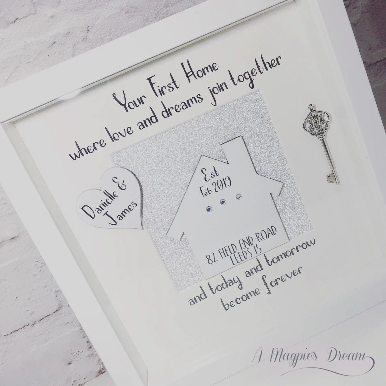 Personalised New Home Gifts Personalised New Home Frame New Home Gift Moving In Present First Home