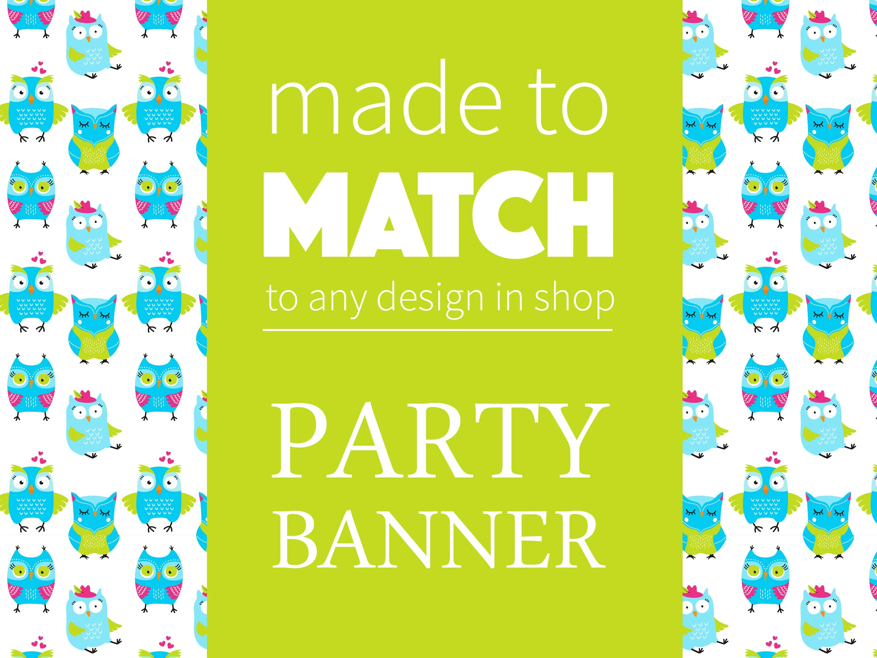 Matching Party Banner Printable Party Coordinates Party Etsy