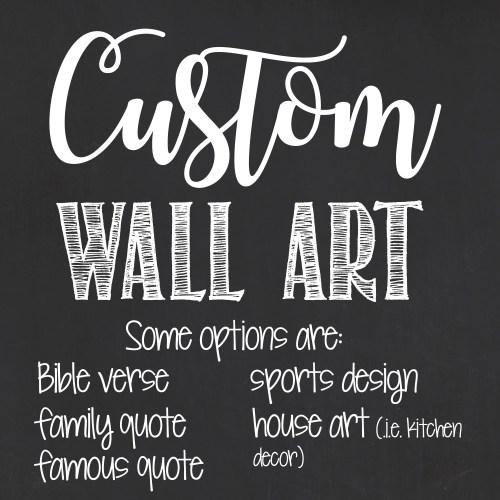 Medium Of Personalized Wall Art