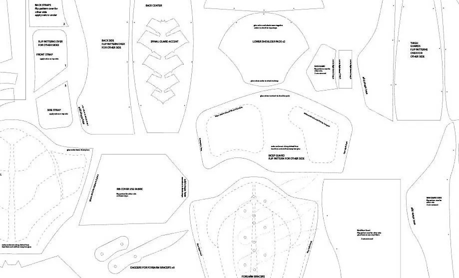RH Full Armor foam Templates Etsy