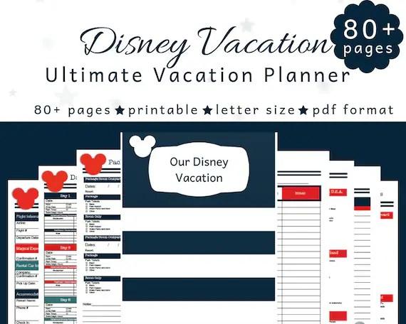 Disney Planner Disney World Planning Disney Itinerary Etsy